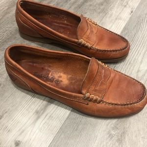 Timberland leather penny loafers size 8.5 brown